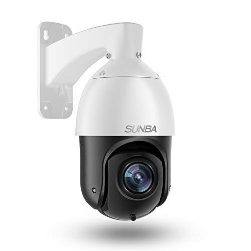 SUNBA 3MP Starlight IP PoE+ Outdoor PTZ Camera, 20x Optical Zoom...