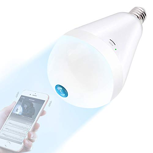 Light Bulb Camera Wifi 1080P HD 360 Fisheye Wireless Security...
