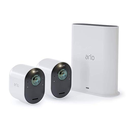 Arlo VMS5240-100NAS Ultra - 4K UHD Wire-Free Security 2 Camera...