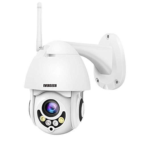 EVERSECU 2.4Ghz WiFi IP PTZ Camera 1080P HD Outdoor Night Vision...