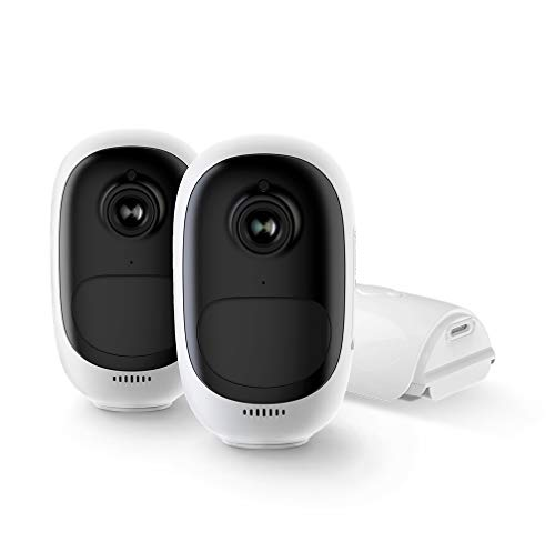 Reolink Outdoor Wireless Security Camera System Rechargeable...