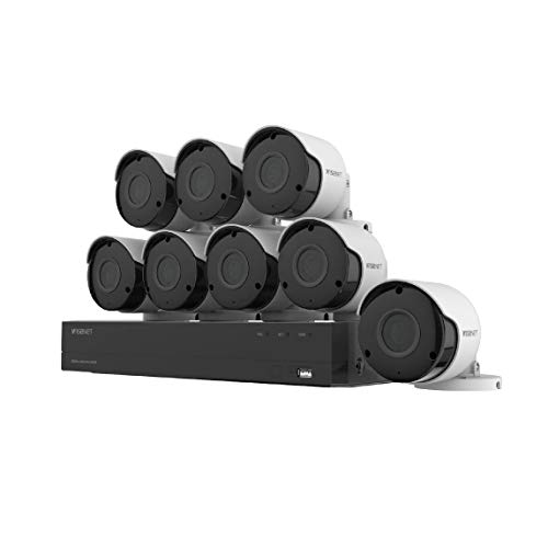 Wisenet SDH-C84085BF 8 Channel Super HD DVR Video Security System...