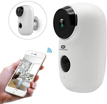 Wifi Security Camera Home Camera Rechargeable Battery Power...