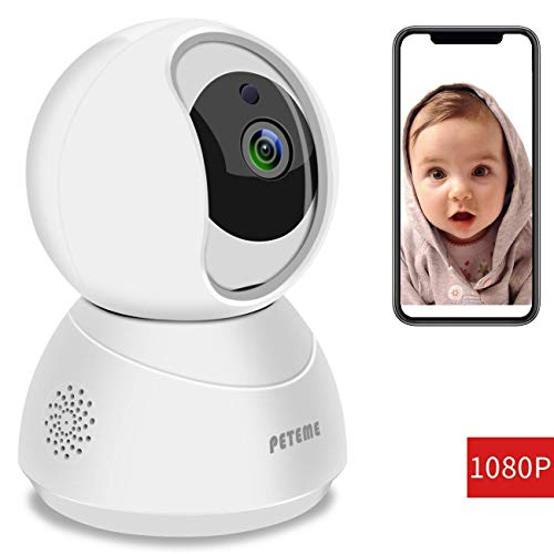 Peteme Baby Monitor 1080P FHD Home WiFi Security Camera...