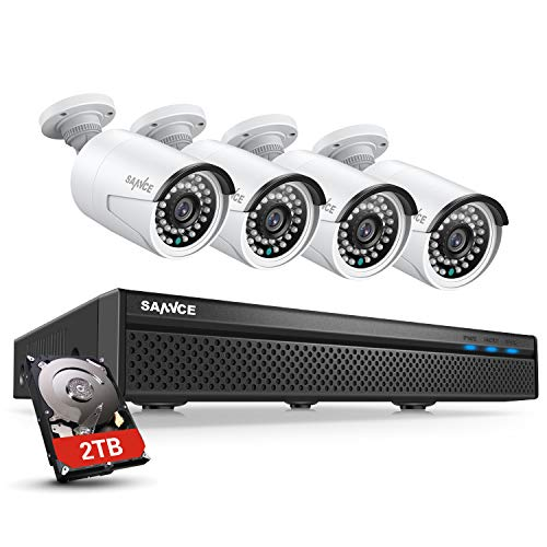 SANNCE 8CH 5MP PoE Home Security Camera System, 4pcs Wired 5MP...