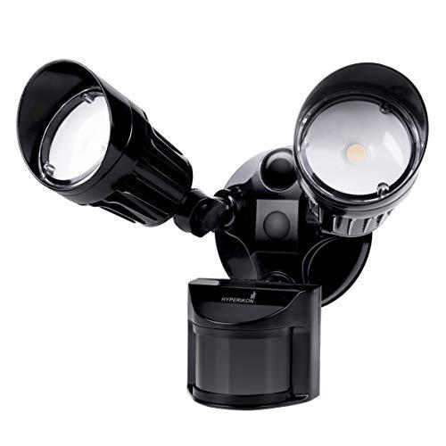 Hyperikon LED Security Light with Motion Sensor, 2 Head Dusk to...