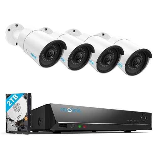 REOLINK 8CH 5MP Home Security Camera System, 4pcs Wired 5MP...