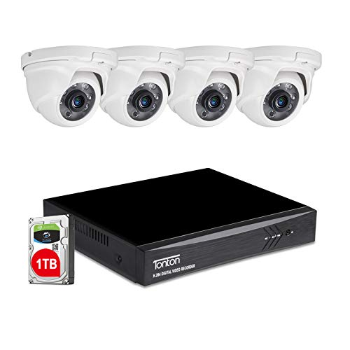Tonton 8CH Full HD 1080P Expandable Security Camera System,...