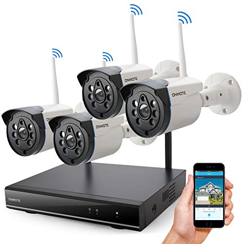 ONWOTE Wireless Security Camera System Outdoor, 1080P HD NVR 4...