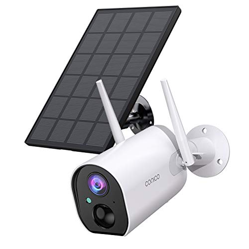 Outdoor Security Camera, Conico Wireless Solar Powered Home IP...