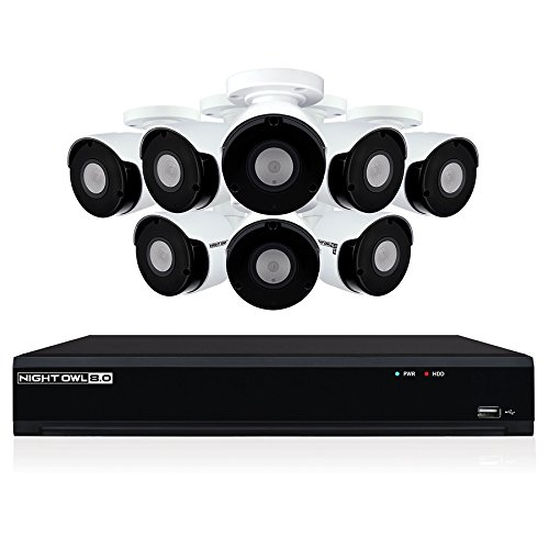 Night Owl 8 Channel 4K Ultra HD Wired Security NVR with 2TB Hard...