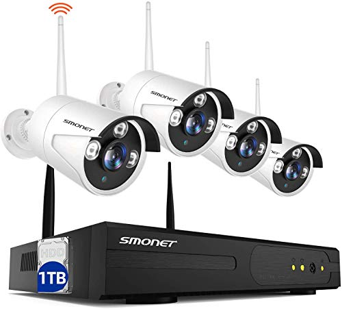 Smonet 4CH 720P HD NVR Wireless Security CCTV Surveillance...