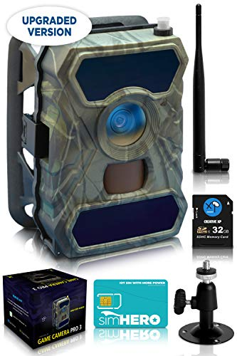CREATIVE XP 3G Cellular Trail Cameras – Outdoor WiFi Full HD...