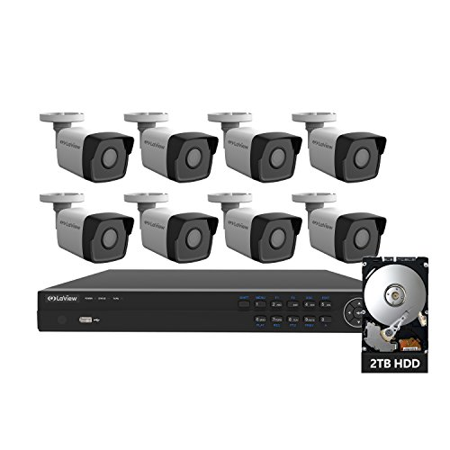 LaView 2K 8 Channel Security Camera System (2688 x 1520), 4K PoE...