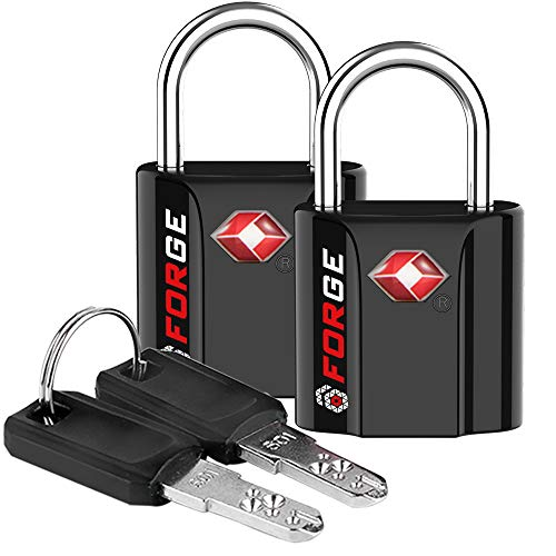 Black 2 Pack TSA Approved Travel Luggage Locks Ultra-Secure...