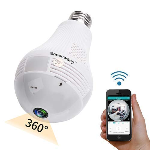 Sheenwang Security Light Bulb Camera, WiFi Indoor Security Camera...