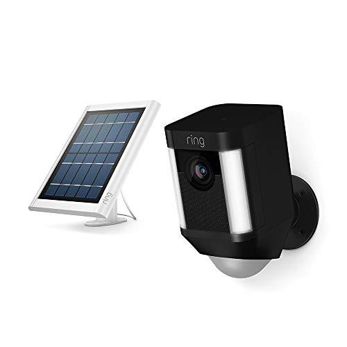 Ring Spotlight Cam Battery (Black) + Ring Solar Panel, White