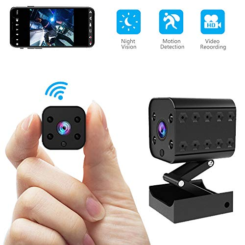 Wireless Hidden Camera Mini WiFi Spy Camera HD 1080P Monitoring...