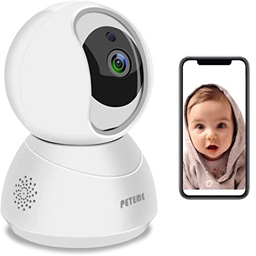 Baby Monitor, Peteme 1080P WiFi Baby Monitor with Camera and...