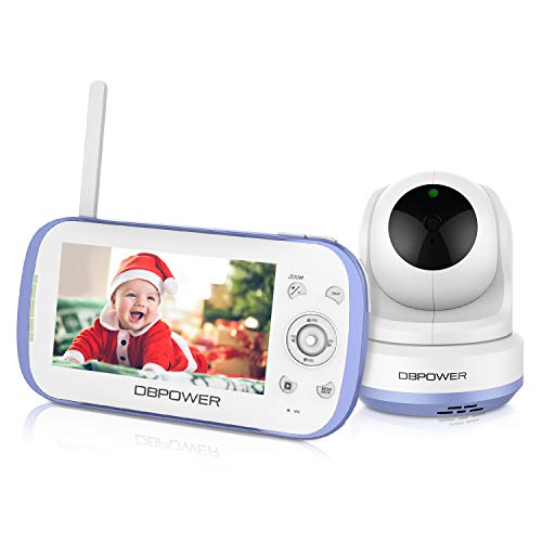 "DBPOWER Video Baby Monitor, 270o Pan-Tilt-Zoom/4.3"" Large..."