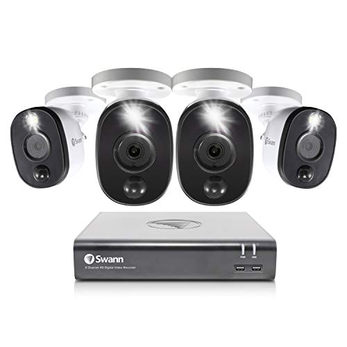 Swann 8 Channel 4 Camera Security System, Wired Surveillance...