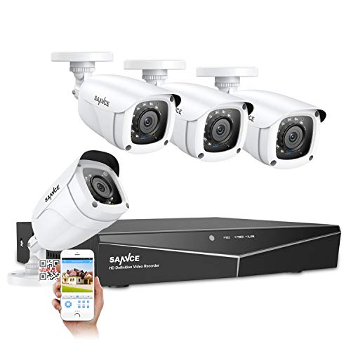 SANNCE 8CH 1080N Security Camera System and (4) 1080P Night...