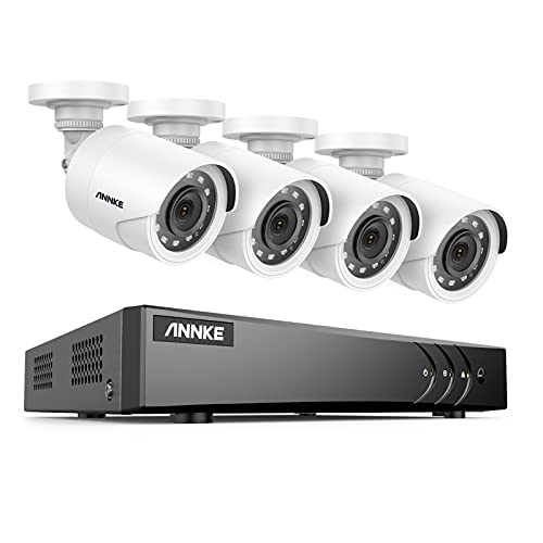 ANNKE 8CH 5MP Lite Security Camera System H.265+ DVR with 4 X...