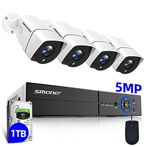 【8Channel 5MP】 SMONET Wired Security Camera System,8CH DVR...
