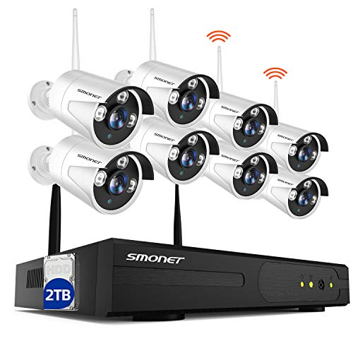 【2TB Hard Drive Pre-installed】SMONET Security Camera System...