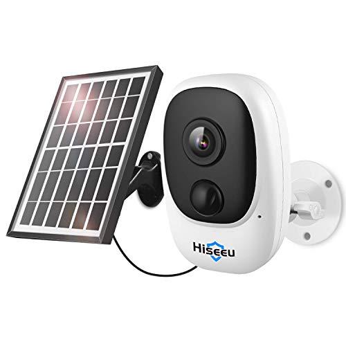 Hiseeu 1080P Solar Wireless Camera, Outdoor Security Camera...