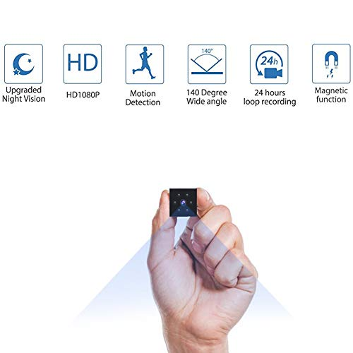 DUKONRIZ 3216558752 Mini Spy Cam, Hidden Camera HD 1080P...