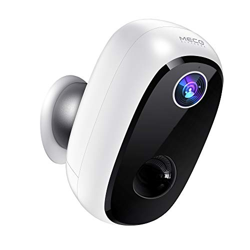 Wireless Outdoor Security Camera, MECO 1080P Rechargeable Battery...