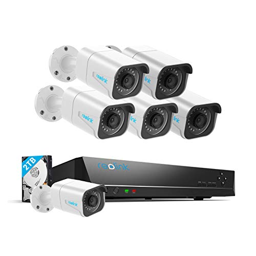 Reolink H.265 4K PoE Security Camera System, 6pcs 8MP Wired PoE...