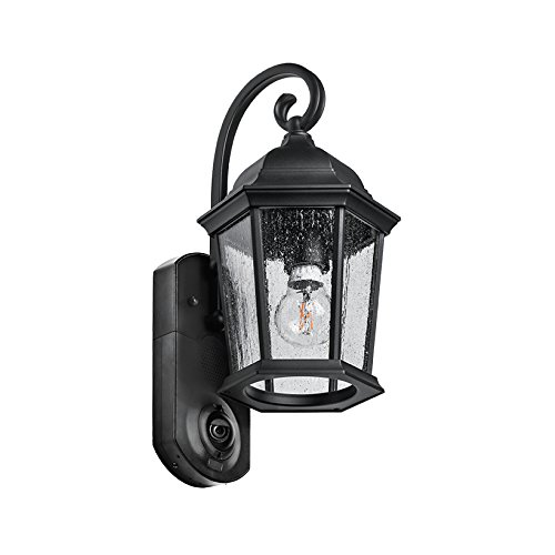 Maximus Video Security Camera & Outdoor Light - Coach Black -...