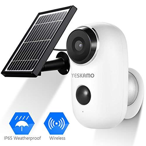 Battery Security Camera Wireless - Solar Powered IP Camera...