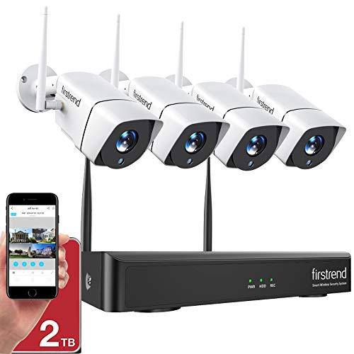 1080P Wireless Security Camera System, Firstrend 8CH Wireless NVR...