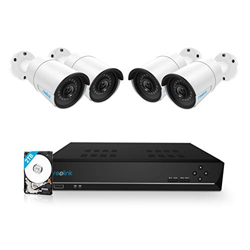 REOLINK 8CH 5MP PoE Home Security Camera System, 4pcs Wired 5MP...