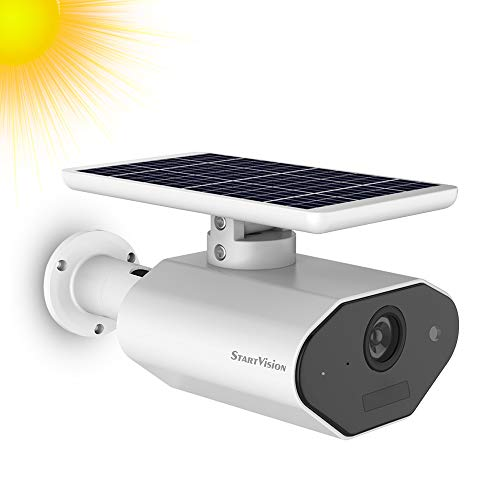 Solar Battery Powered Security Camera, StartVision Outdoor 2.4GHz...