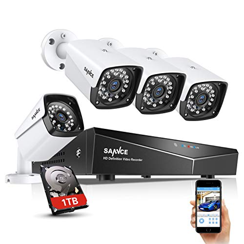 SANNCE 1080P xPOE Security Camera System with 1TB Hard Drive,4...