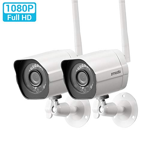 Zmodo Outdoor Security Camera (2 Pack), Smart Home 1080p Full HD...