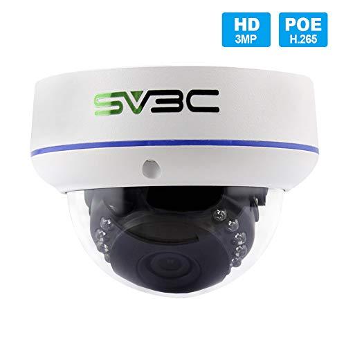 POE Camera, SV3C 3Megapixels IP Camera Outdoor/Indoor, 75-115FT...