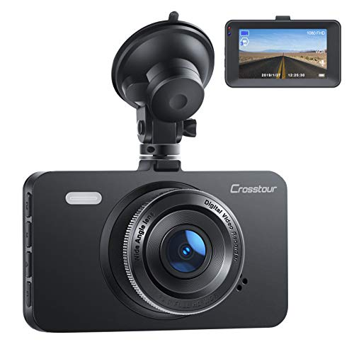 Dash Cam, Crosstour 1080P Car Cam Full HD with 3' LCD Screen...