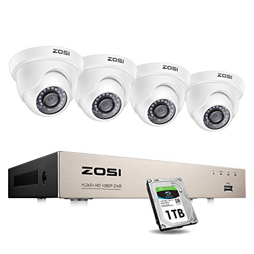 ZOSI Security Cameras System with 1TB Hard Drive,H.265+ 5MP Lite...