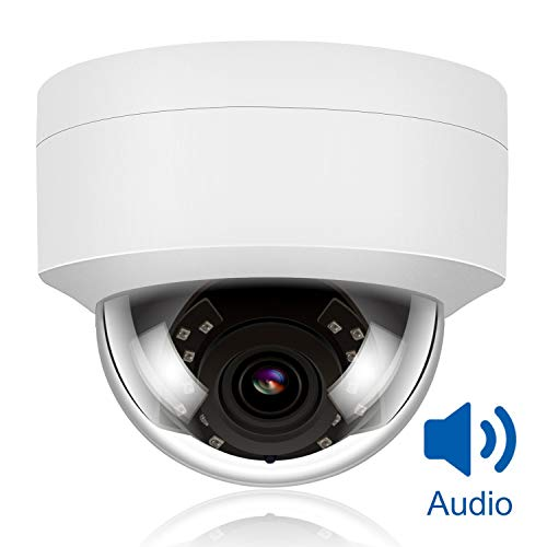 Anpviz 5MP H.265 IR Dome IP Camera PoE with Microphone, Audio, IP...