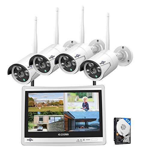 [8CH Expandable] Hiseeu All in one with 12' LCD Monitor Wireless...