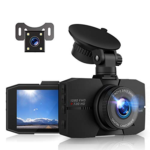 Campark Dash Cam Front and Rear Full HD Dual Dashboard Camera for...