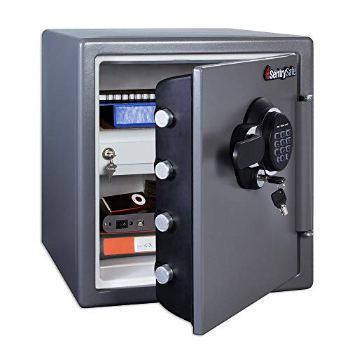 SentrySafe SFW123GDC Fireproof Safe and Waterproof Safe with...