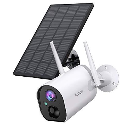 Outdoor Security Camera, Conico Wireless Solar Powered...