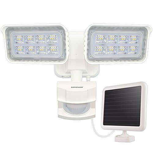 LEPOWER 1500LM Solar Lights Outdoor, LED Motion Sensor Security...