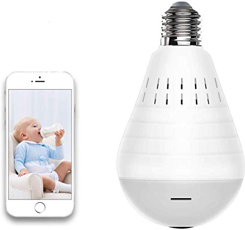 Light Bulb Security Camera WiFi,1080P Wireless Security Camera...